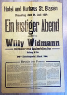 AFFICHE MAGIE CIRCA 1914  ZAUBER WILLY WIDMANN   40 X 60 - Non Classificati