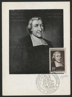 N° 882 15 Fr St JEAN BAPTISTE DE LA SALLE Sur CARTE MAXIMUM Signée Par Le Graveur GANDON + C. à D. Premier Jour - 1950-59