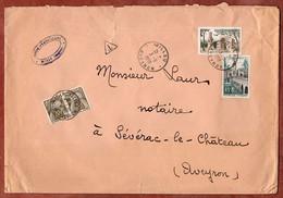 Brief, Saint Remy U.a., Timbres Taxe Portomarken, Millau Nach Severac- Le-Chateau 1959 (3185) - 1859-1955 Covers & Documents