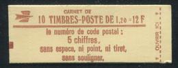FRANCE - CARNET N° 1974 -C 2  - CONF. 7 -  * *  - CD DU 4.   6/7/197.. - COMPLET FERME & LUXE - Definitives