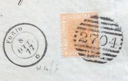 ISOLA D'ISCHIA - FORIO 8 OTT 77 D.c. + BARRE SU 20 C. - BEL PIEGO PER NAPOLI - Marcophilie