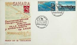 1967 Sahara Español FDC Instalaciones Portuarias - Sahara Spagnolo