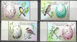 BELARUS, 2020, MNH, BIRDS, EGGS, 4v - Altri