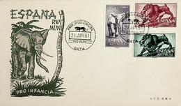 1961 Rio Muni FDC Pro Infancia - Elefanten