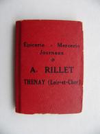 Mini Almanach 1933 Epicerie Mercerie Journaux A. Rillet THENAY Loir Et Cher Avec Petit Miroir - Advertising
