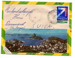 BRASIL  França 1971 Via  Aerea Envelope Fotoramico - Cartas