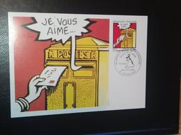 """CARTE """" LA COMMUNICATION """" 12 AUTEURS DE BD FRANÇAIS LAURÉAT GRAND PRIX FESTIVAL ANGOULÊME 1988 TIMBRE N° 2510 - 1980-1989"""