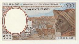 BILLET NEUF 500 FRANCS BANQUE CENTRALE DES ETATS DE L'AFRIQUE CENTRALE 1994 GABON - Central African States