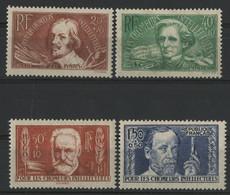 """1936 N° 330 à 333 Série Complète """"Au Profit Des Chômeurs Intellectuels"""" Voir Description. - Ungebraucht"""