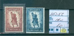 351-352 Obl Côte 160€ - Unused Stamps