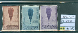 353-355  Xx Côte 150€ - Unused Stamps