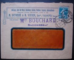 Valognes Manche 1923 M. Bitouzé & R. Vivien, M Bouchard Successeur , Métaux Bois Du Nord Charbons Grains Farines - 1921-1960: Modern Period