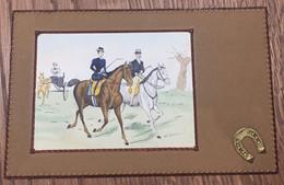 Art Nouveau - OPF - Scena Con Cavalli E Calesse - Motivi A Rilievo - Ante 1900