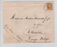 REF3193/ TP 205 Houyoux S/L. C.Halle 12/11/1927 Via Dar-Es-Salam > Congo Belge Pas De C.d'arrivée Rien Au Verso - Cartas