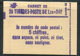 FRANCE - CARNET N° 2101 -C 1a  - CONF. 8 -  * *  - CD DU 4.  5/5/80 - COMPLET FERME & LUXE - Definitives