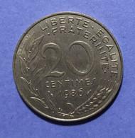 1986/53 - FRANCIA  - MONETA DEL VALORE  DI 20  Centesimi   - USATA - - E. 20 Centimes