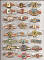 24 Complet Sets Cigar Bands / Serie Complet De Bagues De Cigares/ 24 Serien Bauchbinden F - Cigar Bands