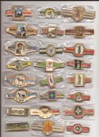 24 Complet Sets Cigar Bands / Serie Complet De Bagues De Cigares/ 24 Serien Bauchbinden H - Cigar Bands