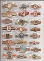 24 Complet Sets Cigar Bands / Serie Complet De Bagues De Cigares/ 24 Serien Bauchbinden J - Anelli Da Sigari