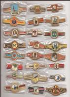 24 Complet Sets Cigar Bands / Serie Complet De Bagues De Cigares/ 24 Serien Bauchbinden K - Anelli Da Sigari