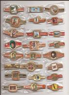 24 Complet Sets Cigar Bands / Serie Complet De Bagues De Cigares/ 24 Serien Bauchbinden L - Anelli Da Sigari