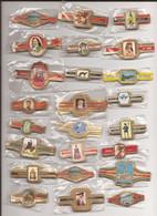 24 Complet Sets Cigar Bands / Serie Complet De Bagues De Cigares/ 24 Serien Bauchbinden M - Anelli Da Sigari