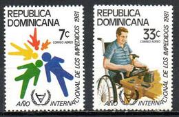 DOMINICAINE. PA 380-1 De 1981. Année Internationale Des Personnes Handicapées. - Handicap