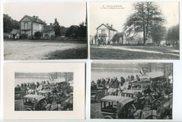 LOT 12 COPIES/REPRO De CPA Sur Papier Photo Forêt Rambouillet Equipage Bonnelles Etang Tour Duchesse D'Uzès Celle Bordes - Sonstige Gemeinden