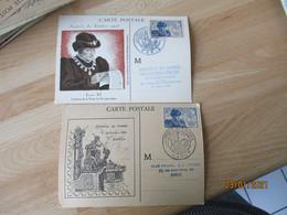 Lot De 4 Journee Du Timbre 1945 Louis 11 Cm Carte Maximum - 1940-49