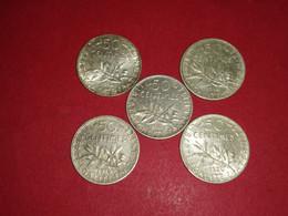 50 Centimes ARGENT SEMEUSE 1916 1917 1918 1919 1920 Non Nettoyé - G. 50 Centesimi
