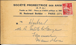 Bande Je Journaux - Préoblitéré YT N° 108  Type Moissonneuse - Sur Société Protectrice Des Animaux - Newspapers