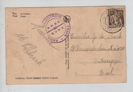 REF3197/ TP 337 S/CP Huy La Citadelle C.Diamant 2/7/1934 + C.Train Radio-Radiotrein N.M.B.S. - S.N.C.B. > Antwerpen - Cartas