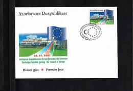 2001 - Europe Sympathy FDC Azerbaijan Mi.796 - Cancel Baki [WJ035] - 2001