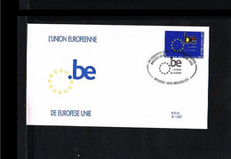 2001 - Europe Sympathy FDC Belgium Mi.3064 - P 1387 - Issue Rodan - Cancel Brussel-Bruxelles [WJ036] - 2001
