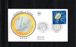 2001 - Europe Sympathy FDC France Mi.3542 - Issue FDC Marque Deposee - Cancel Paris [WJ039] - 2001