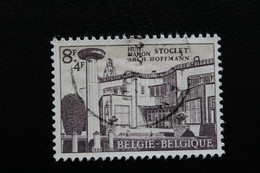 1965,BELGIQUE Y&T NO 1339 8f+4f Lilas Et Ocre Maison Stoclet à Bruxelles  ... - Oblitérés