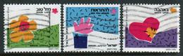 Israel 1989 Set Issued to Celebrate Greetings Stamps. - Oblitérés (sans Tabs)