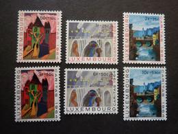 LUXEMBOURG, Année 1964, YT N° 654 à 659 Neufs MH* - Ongebruikt