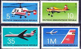 DDR GDR RDA - Flugzeuge (MiNr: 1749/52) 1972 - Postfrisch MNH - Unused Stamps
