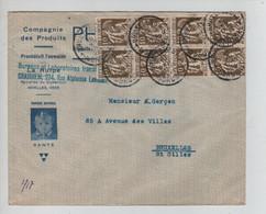 REF3199/ TP 337 (8) S/L.Compagnie Des Produits Phosfata Bureaux Crainhem 10/12/1934 > St.Gilles BXL - Cartas
