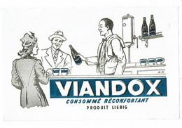 Buvard VIANDOX LIEBIG Consommé Réconfortant Dans Les Cafés Comptoir - Soups & Sauces