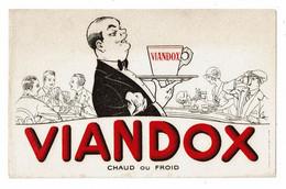 Buvard VIANDOX LIEBIG Chaud Ou Froid Café Serveur Plateau Tasse Jeu De Cartes Famille Comptoir - Minestre & Sughi