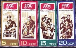 DDR GDR RDA - Parteitag Der SED (MiNr: 1268/71) 1967 - Postfrisch MNH - Unused Stamps
