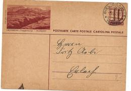 """160 - 30 - Entier Postal Avec Illustration """"Hemberg"""" Cachet à Date Biel/Bienne 1943 - Entiers Postaux"""