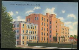 NH LININ POSTCARD  MANCHESTER SACRED HEART HOSPITAL Bldg USA - Manchester