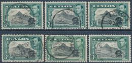 Ceylon SG 387,a,b,c,d,e Set Of All Perfs - Ceylon (...-1947)