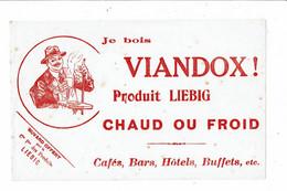 Buvard VIANDOX LIEBIG Je Bois Viandox Chaud Ou Froid Café Bar Hotel Buffets Homme Au Comptoir - Soups & Sauces