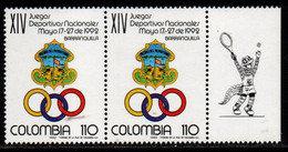 A364E-COLOMBIA- 1992 - MNH - MI#: 1863 - NATIONAL GAMES BARRANQUILLA- TENNIS LABEL - Colombia