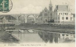 Wimereux - L'Hotel De Ville, L'Eglise Et Le Pont - Andere Gemeenten