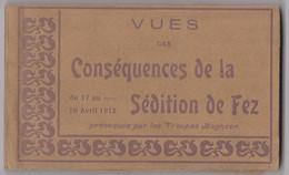 CPA Carnet Complet De 20 Cartes Sur La Sédition De Fez (Maroc) En 1912 Troupes, Destructions, Israélites Réfugiés  Rare - Fez